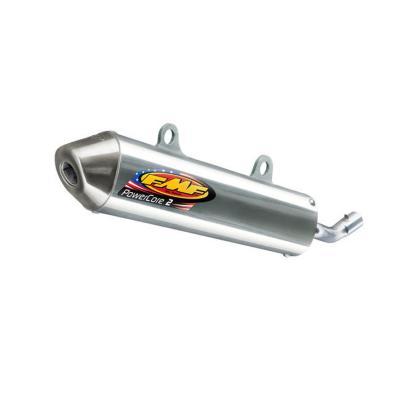 Silencieux FMF PowerCore 2 finition aluminium embout inox pour KTM SX 125 12-15