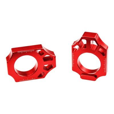 Tendeur de chaîne Scar aluminium anodisé rouge pour Honda CR 125 02-07