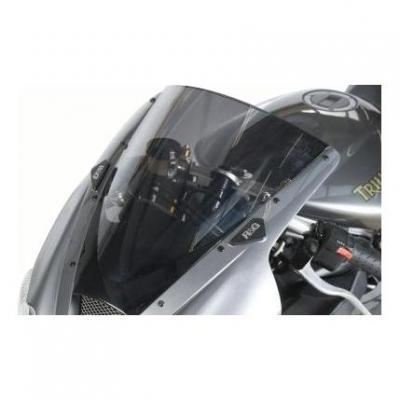 Caches orifices de rétroviseur R&G Racing noirs Triumph Daytona 675 04-12