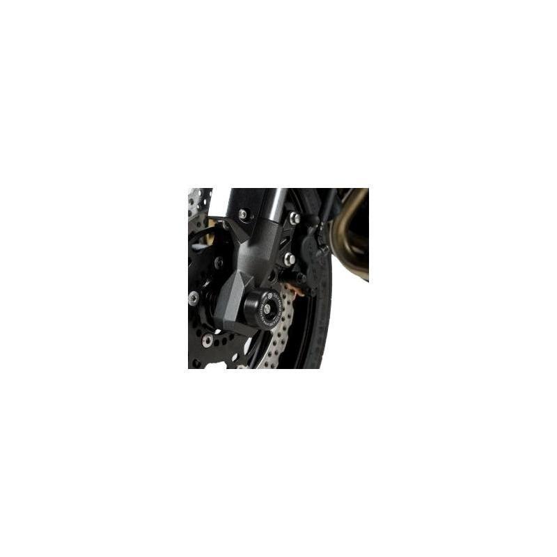 Tampons de protection de fourche R&G Racing noirs Kawasaki Versys 650 07-12