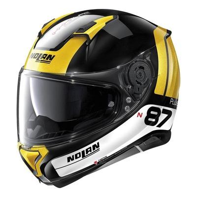 Casque intégral Nolan N87 Plus Distinctive N-Com Brillant noir/spark yellow
