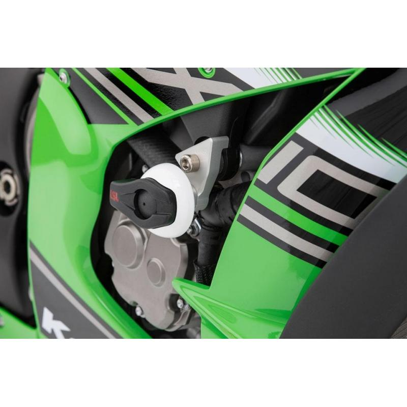 Kit fixation tampon de protection LSL Kawasaki ZX-10R 11-18 avec platine