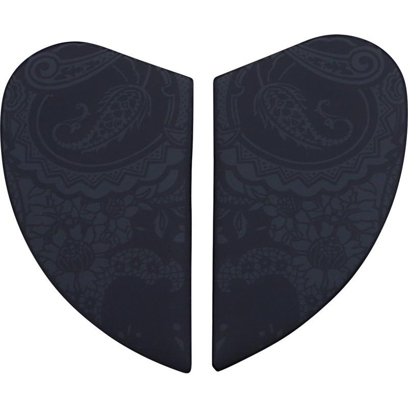 Plaques latérales Icon pour casque Airform Chantilly noir mat
