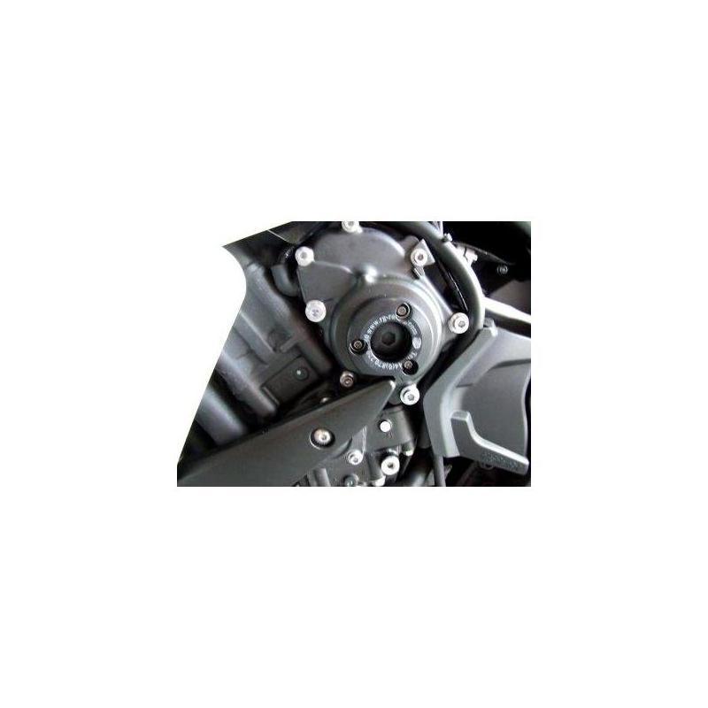 Slider moteur gauche R&G Racing noir Yamaha YZF-R1 07-14