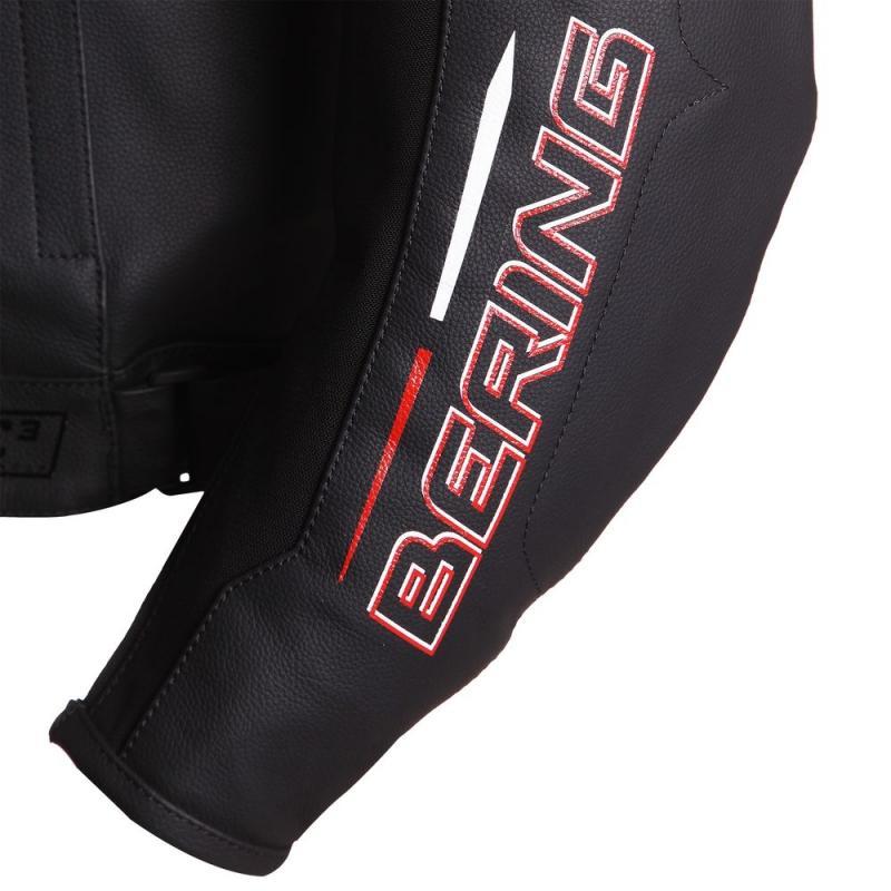Blouson cuir Bering SWITCH Noir/Blanc/Rouge - 2