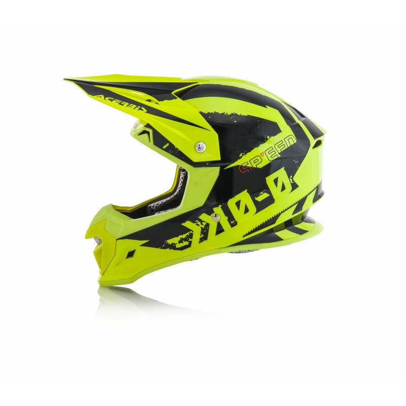 Casque cross Acerbis Profile 4 jaune/noir - 4