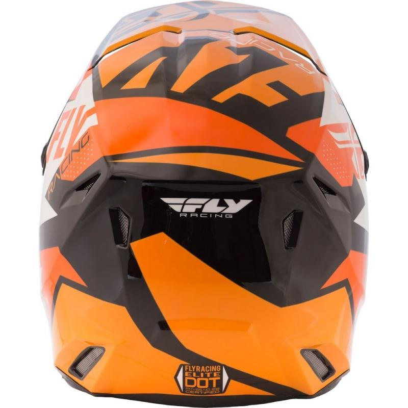Casque cross Fly Racing Elite Guild noir/orange/blanc - 2
