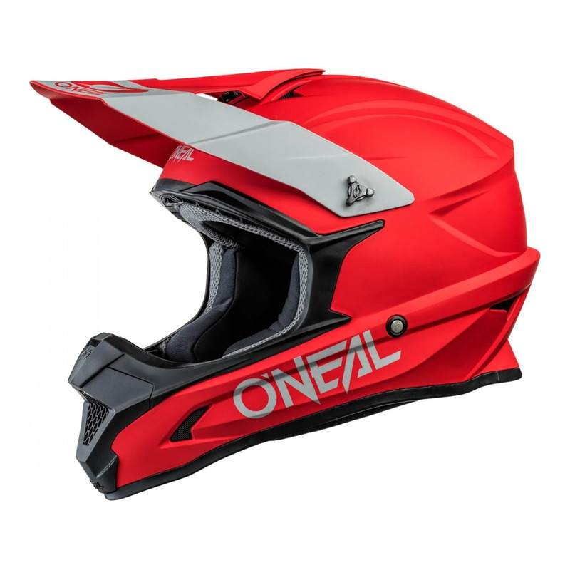 Casque cross O'Neal 1SRS Solid rouge