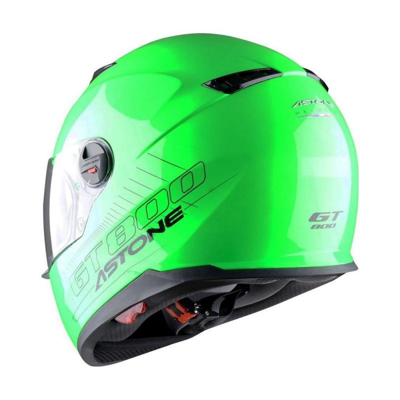 Casque Intégral Astone Gt800 Solid Exclusive vert fluo - 1