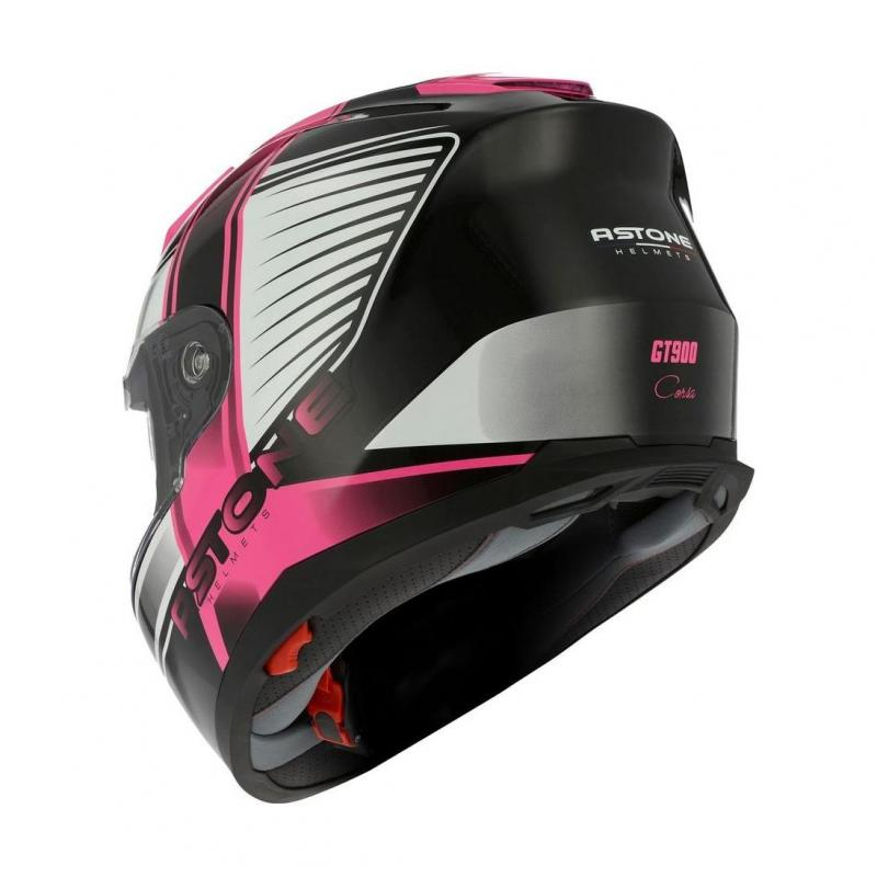 Casque intégral Astone GT900 exclusive CORSA rose - 1