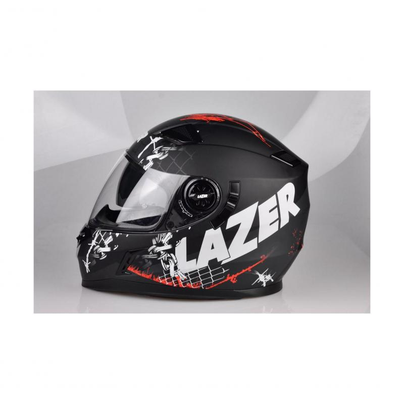 Casque intégral Lazer BAYAMO Pitbull 2 noir/rouge/blanc mat - 3