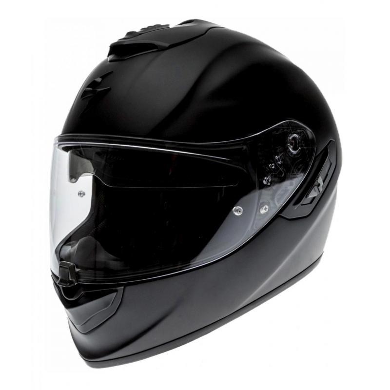 Casque intégral Scorpion EXO-1400 AIR SOLID noir mat