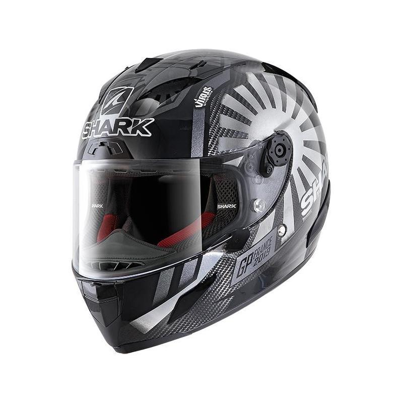 Casque intégral Shark Race-R Pro Carbon Zarco GP France 2019 carbone/chrome/anthracite