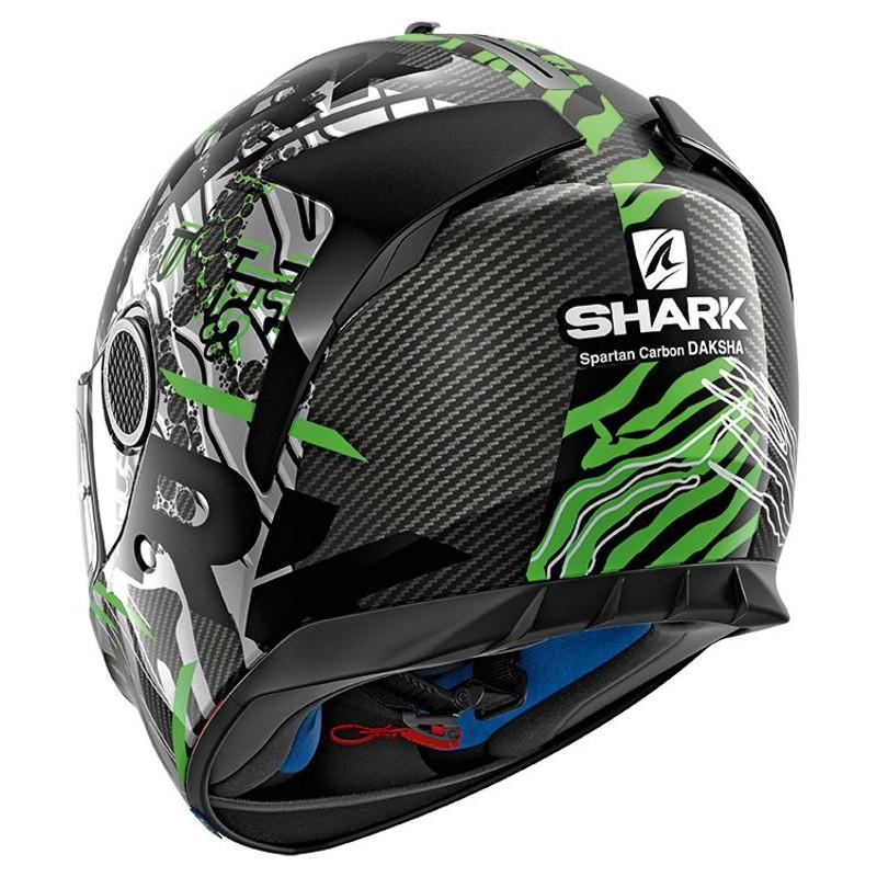 Casque intégral Shark SPARTAN CARBON DAKSHA carbone/vert/noir - 1