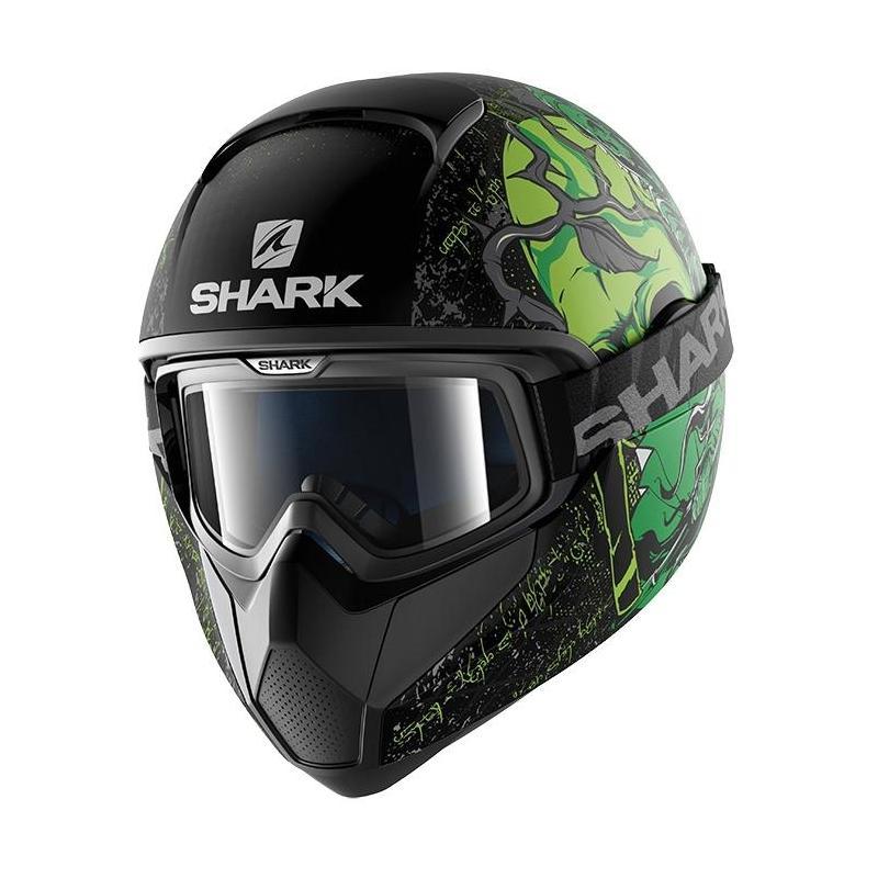 Casque intégral Shark VANCORE ASHTAN Mat noir/vert