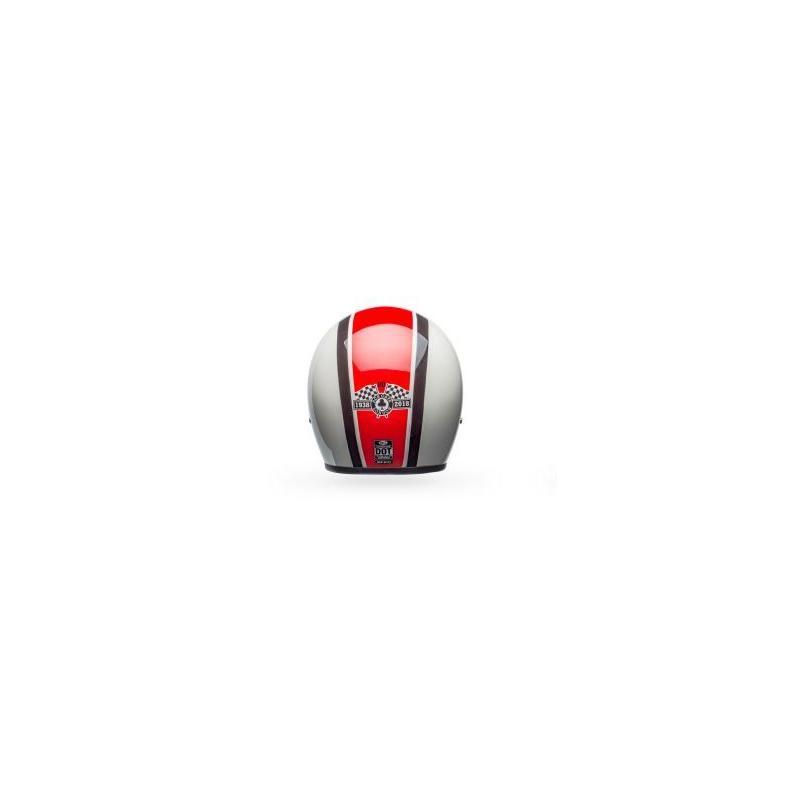 Casque jet Bell Custom 500 Ace Café Stadium Gloss argent/rouge/noir - 2