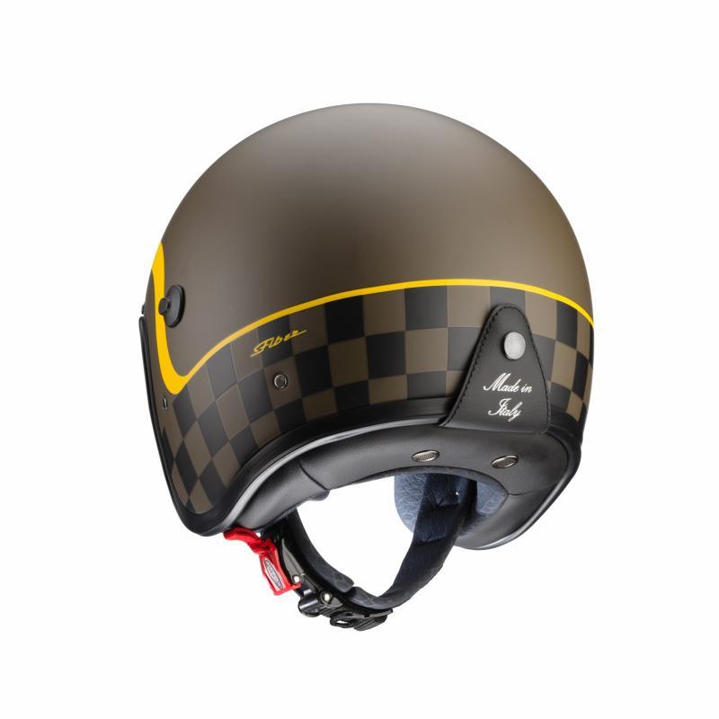 Casque jet Caberg Freeride Formula marron mat/jaune - 4
