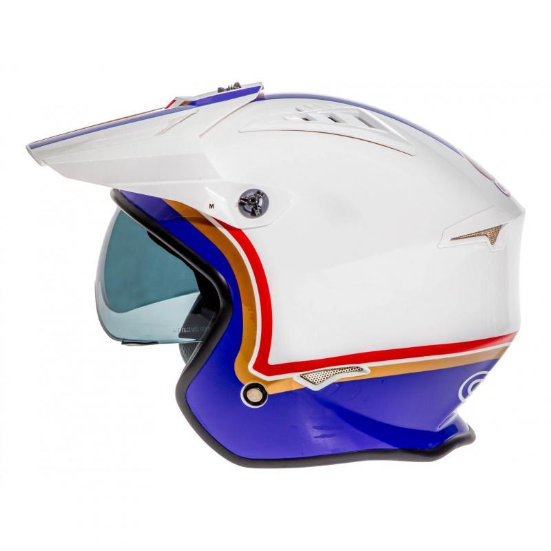 Casque jet O'Neal Volt Rothmans blanc/violet/rouge - 1