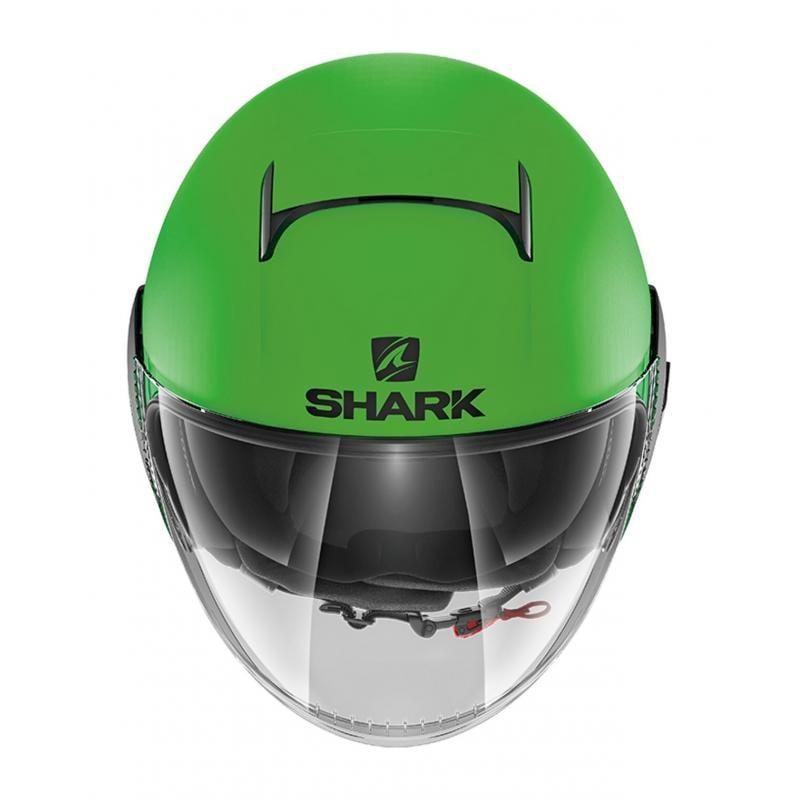 Casque jet Shark Nano Street Neon Mat vert/noir - 2