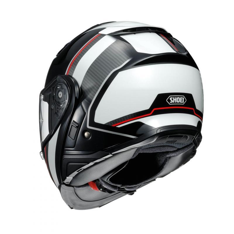 Casque modulable Shoei Neotec II blanc/noir/rouge - 1