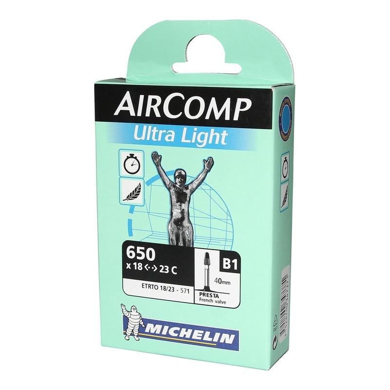 Chambre à air vélo Michelin AirComp Ultra Light 650 x 18/23 B1 Presta 40mm