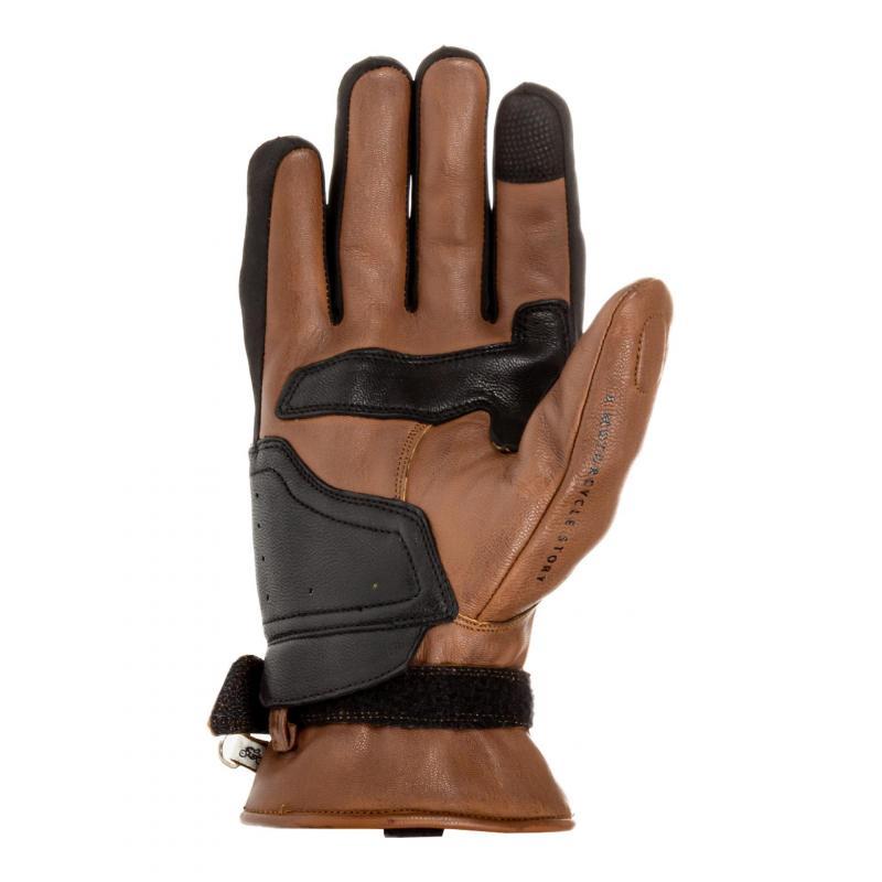 Gants cuir Helstons Vertigo camel/noir - 1