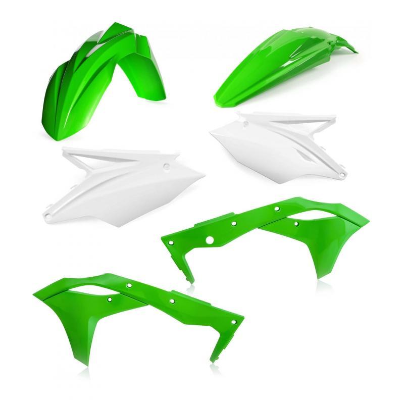 Kit plastique Acerbis Kawasaki 250 KX 2020 blanc/vert (couleur origine 19)