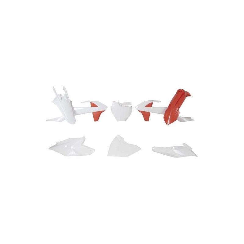 Kit plastique RTech KTM 85 SX 18-21 orange/blanc (couleur OEM 19-20)