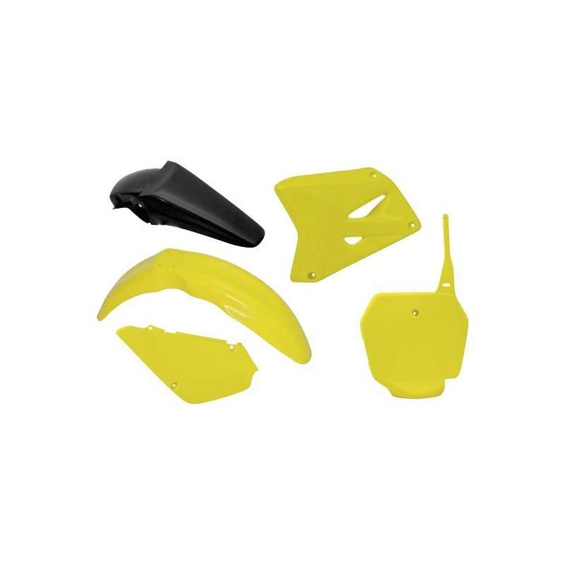 Kit plastique RTech Suzuki 85 RM 00-21 jaune/noir (couleur OEM 2016)