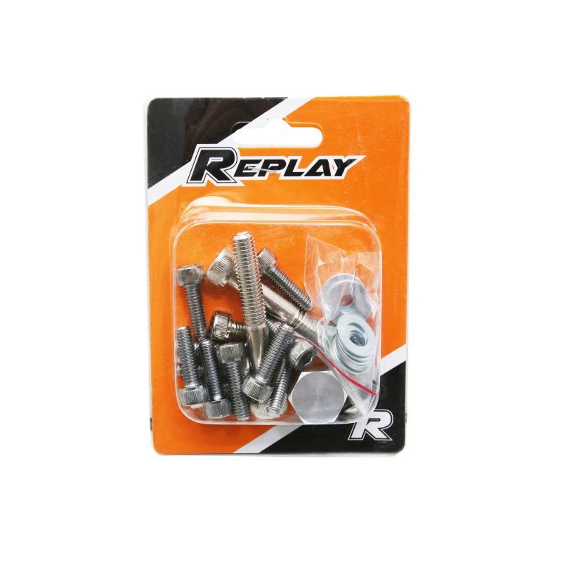 Kit vis de carrosserie Replay acier chrome pour Booster spirit - 1