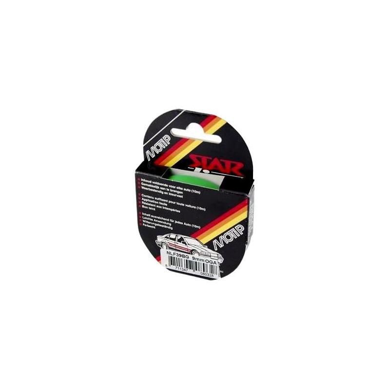Liseret Autocollant Fluo Vert 9mmx10m pour Jante ou Carrosserie