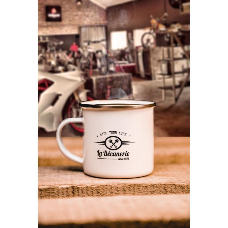 Mug vintage La Bécanerie blanc - 1