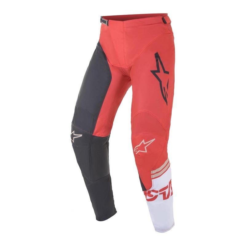 Pantalon cross Alpinestars Racer Compass anthracite/rouge fluo/blanc