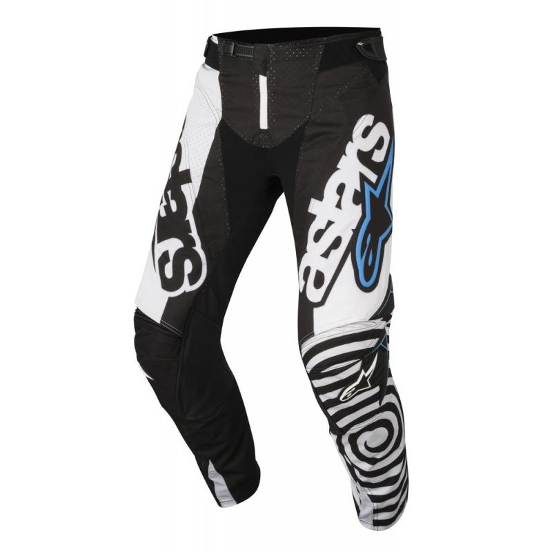 Pantalon cross Alpinestars Techstar Venom noir/blanc