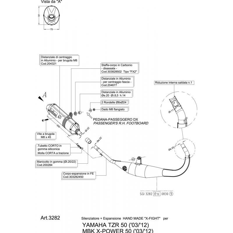 Pot d'échappement Leovince X-fight pour Yamaha TZR 50 03-13 - 2