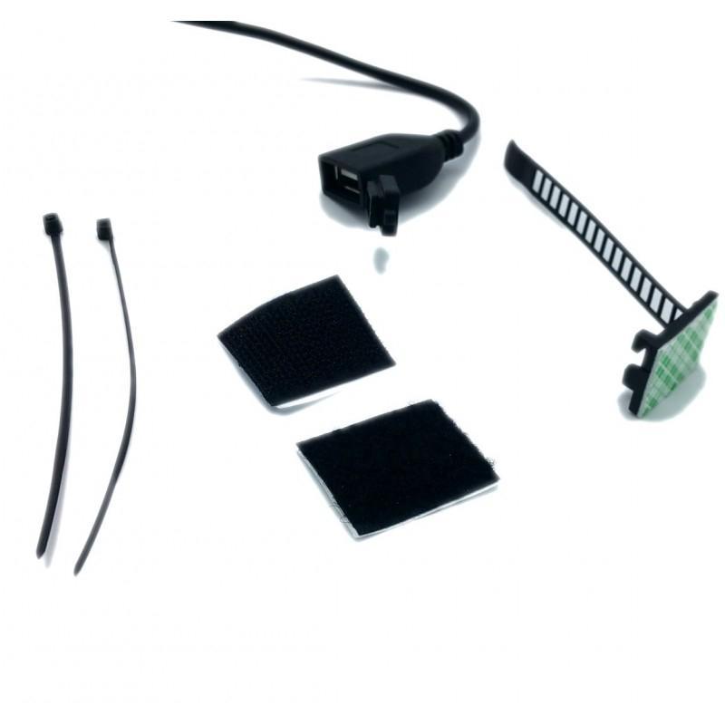 Prise USB Brazoline étanche multifixation 12V 2A - 1