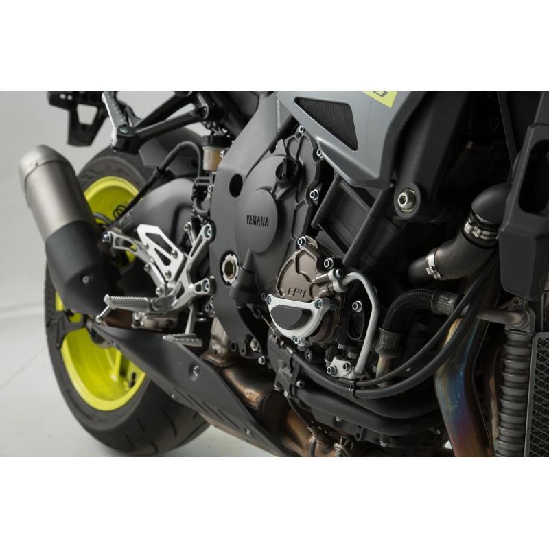 Protection de couvercle de carter moteur SW-MOTECH noir / gris Yamaha MT-10 16- - 1