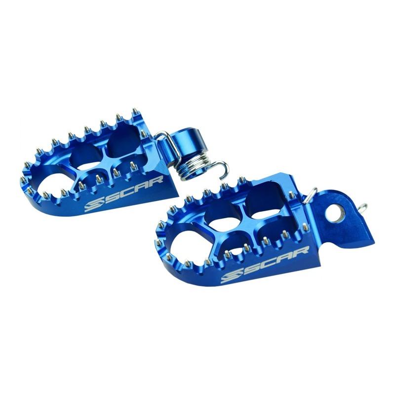 Reposes pieds Scar Evolution bleu pour Husqvarna TC 125 14-15