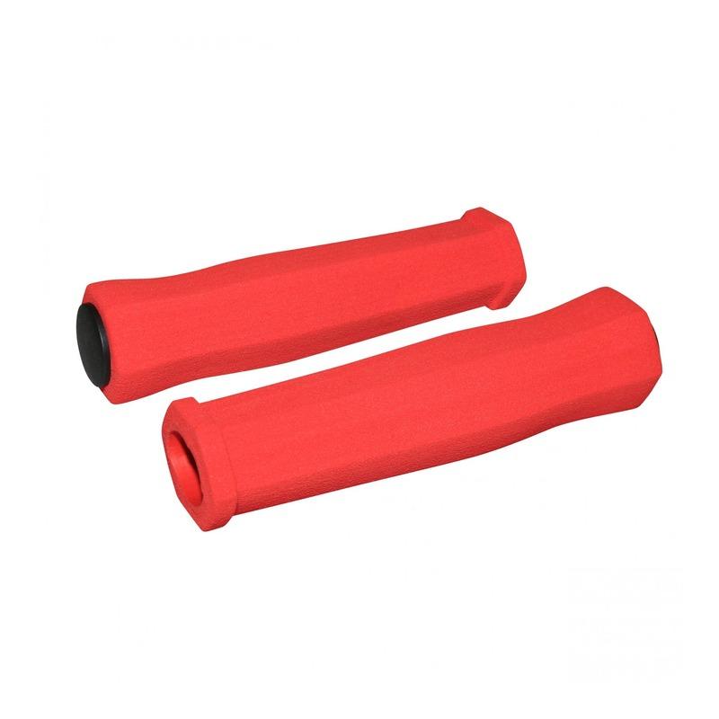 Revêtements de poignées vélo Newton Mousse haute densité rouge