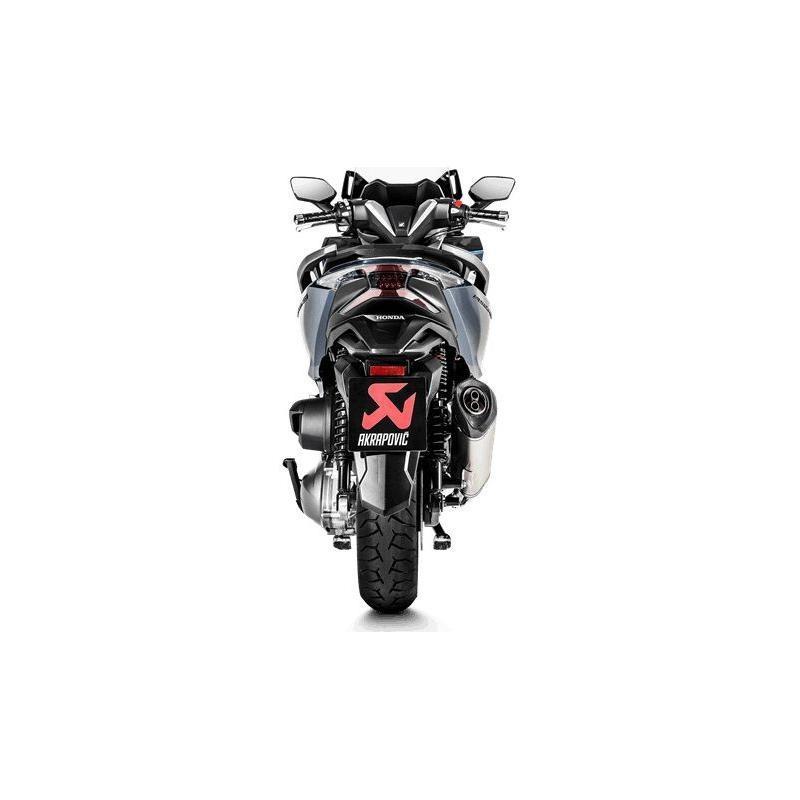 Silencieux Akrapovic inox embout carbone Honda Forza 300 18-20 - 2
