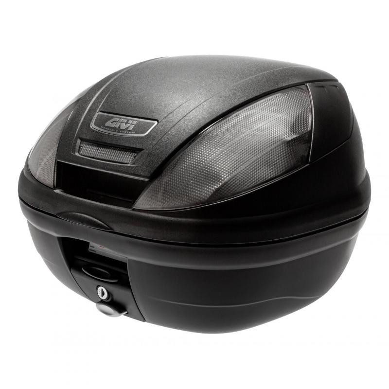 Top case Givi E370 monolock catadioptres fumés avec platine/kit fixation