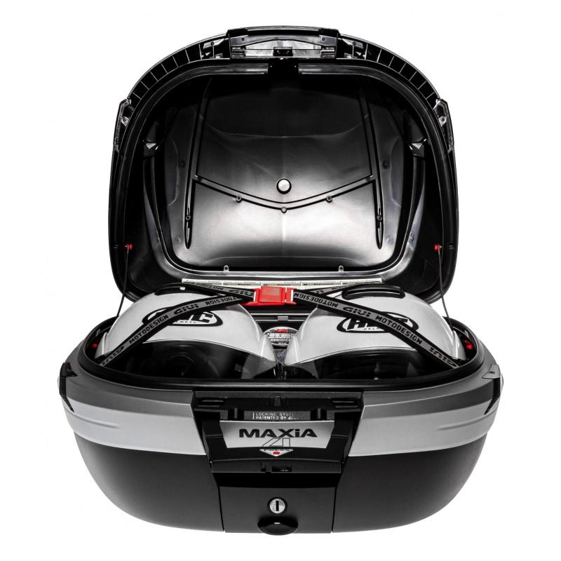 Top case Givi V56 MAXIA4 56L noir/carbone catadioptres fumés - 1