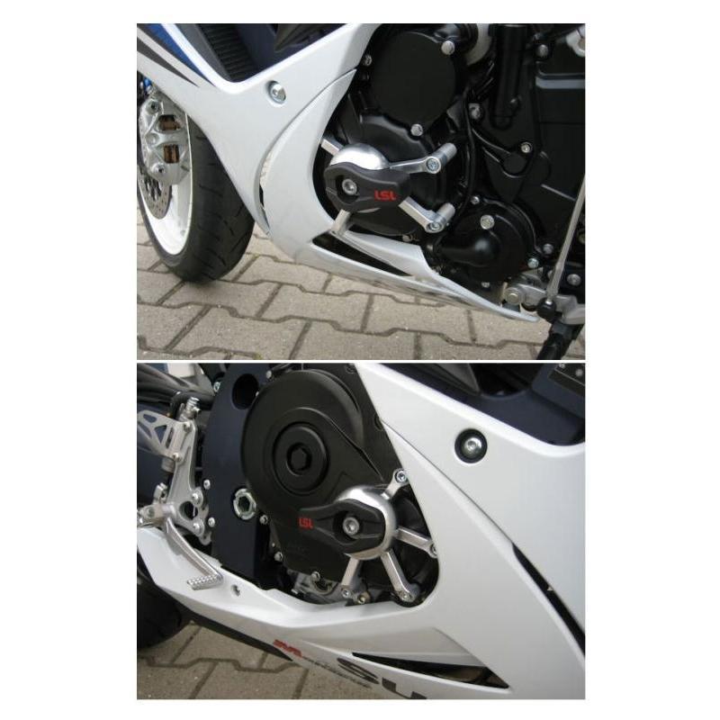 Kit fixation sur moteur pour tampon de protection LSL Suzuki GSX-R 600 11-18
