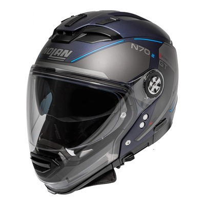 Casque transformable Nolan N70-2 GT LakotaN-Com Mat imperator blue