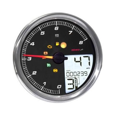 Compteur vitesse Dakota Digital cerclage MLX-2000 chrome