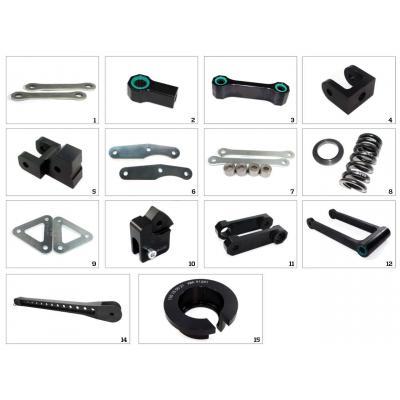 Kit rabaissement de selle -30 mm Tecnium pour Kawasaki GTR 1400 07-15