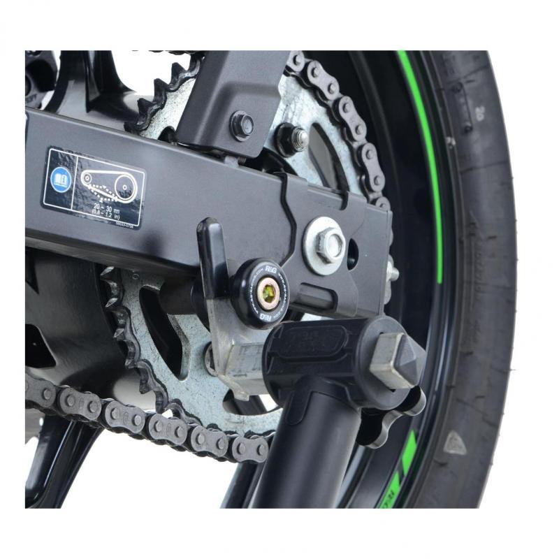 Diabolos de bras oscillant R&G Racing noir ØM10 Kawasaki Ninja 250 08-17