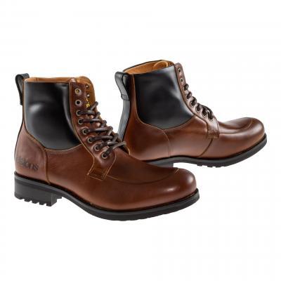 Chaussures moto Helstons Oxford tan/noir