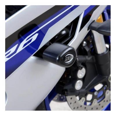 Tampons de protection supérieurs R&G Racing Aero noir Yamaha YZF-R6 06-16
