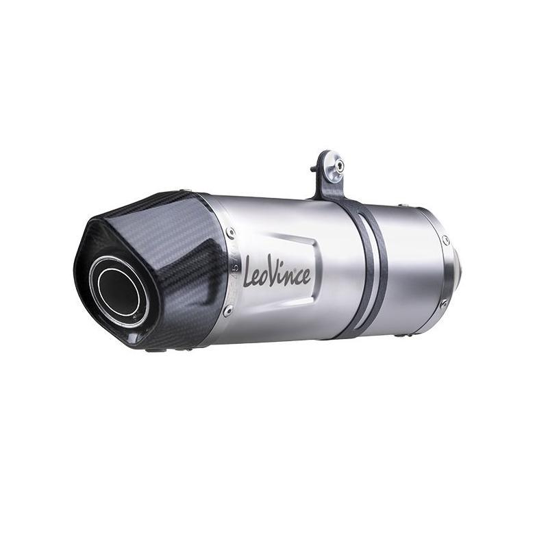 Silencieux Leovince LV One Evo inox casquette carbone pour Piaggio MP3 500 11-16 - 3